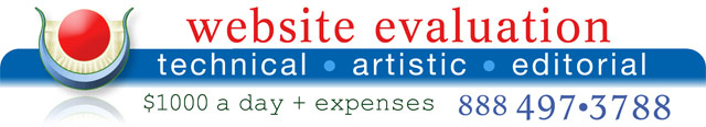 Website Evaluation banner